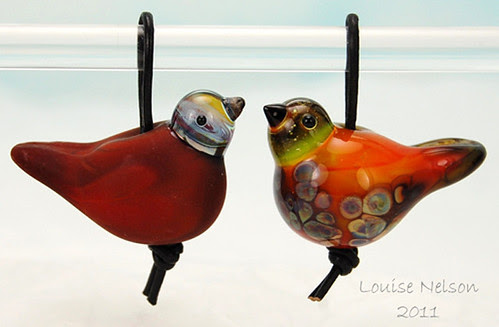 Bird beads ready to fly by Louise Nelson