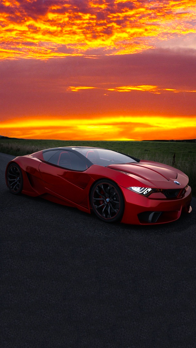 Red Sports Car In Mazatlan - The iPhone Wallpapers