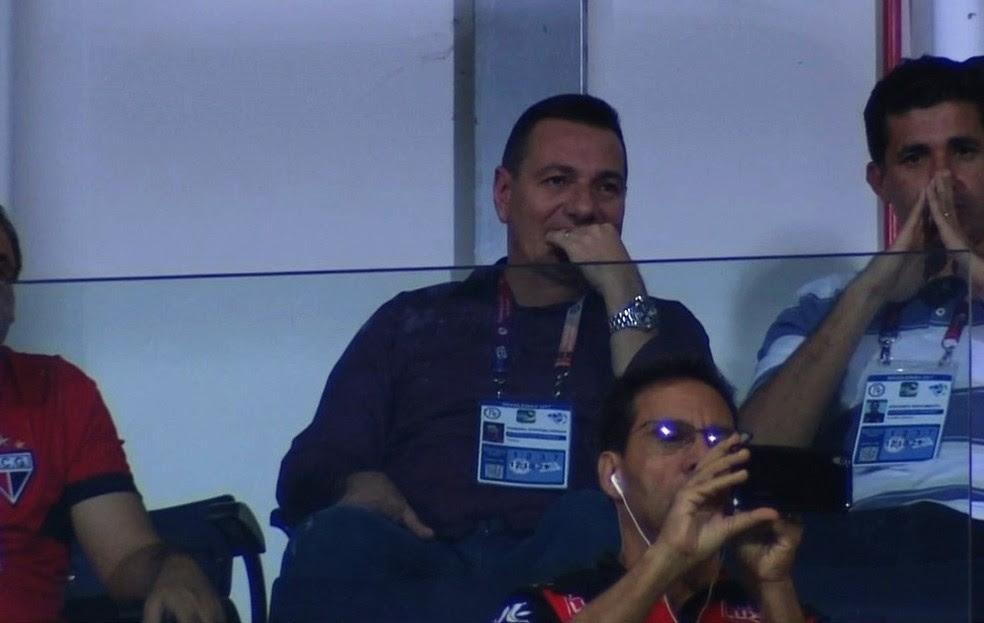 Doriva assistiu ao jogo no Estádio Olímpico (Foto: Reprodução / PFC)