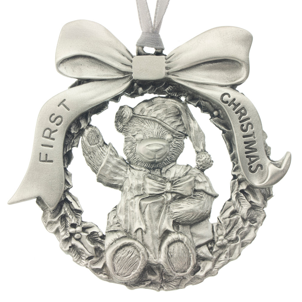 Babys First Christmas Ornament Aitkens Pewter