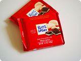 Ritter Sport Dark Chocolate with Marzipan ICE CREAM!