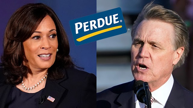 Perdue Chicken makes clear it's not affiliated with Sen. Perdue after he mispronounces Kamala Harris' name