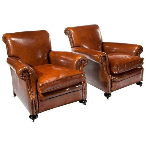 leather club armchairs   28 images   pair of french leather club armchairs, pair of 1970s