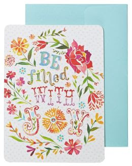 Be Filled with Joy Boxed Note Card Set of 10, Katie Daisy notecards