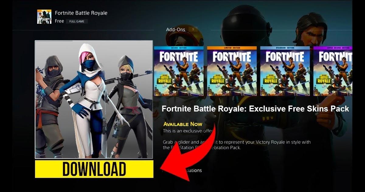 download free fortnite skins ps4