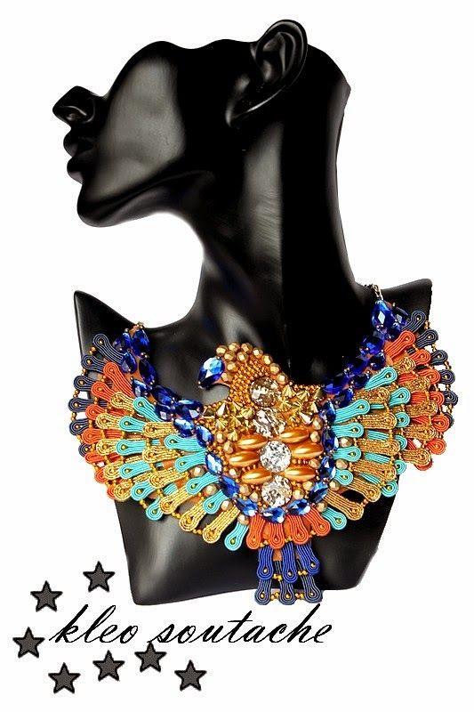 Sutasz Kleo /Soutache jewellery: PHOENIX II
