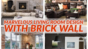 30 Marvelous Living Room Blueprint Amongst Brick Wall Ideas That Volition Brand Yous To A Greater Extent Than Comfort