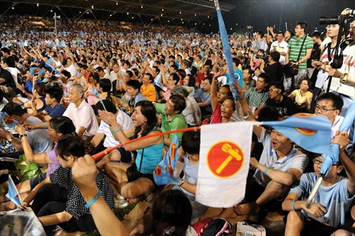 Singapore GE 2011 - Spectators and supporters of the oppositions