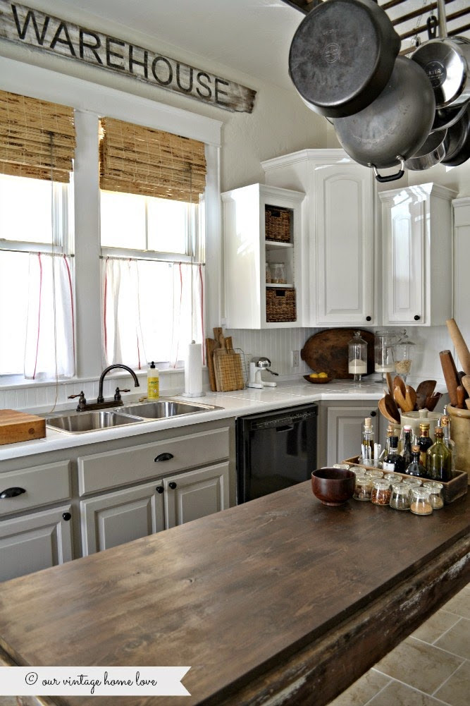 10 Fab Farmhouse Kitchen Makeovers {where they painted the ...