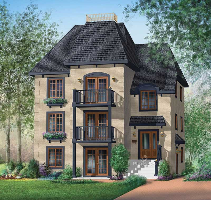 MultiLevel, MultiUnit House Plans  Home Design PI40259  17900