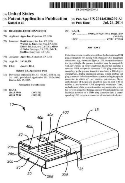 patenteconectorlightningusbreversible