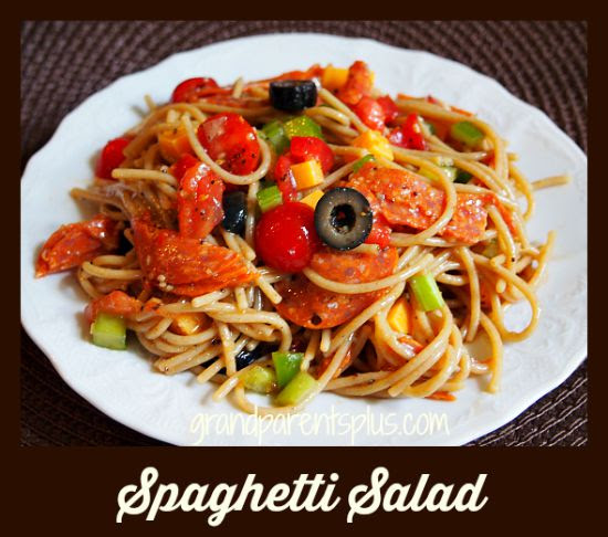 Spaghetti Salad  grandparentsplus.com
