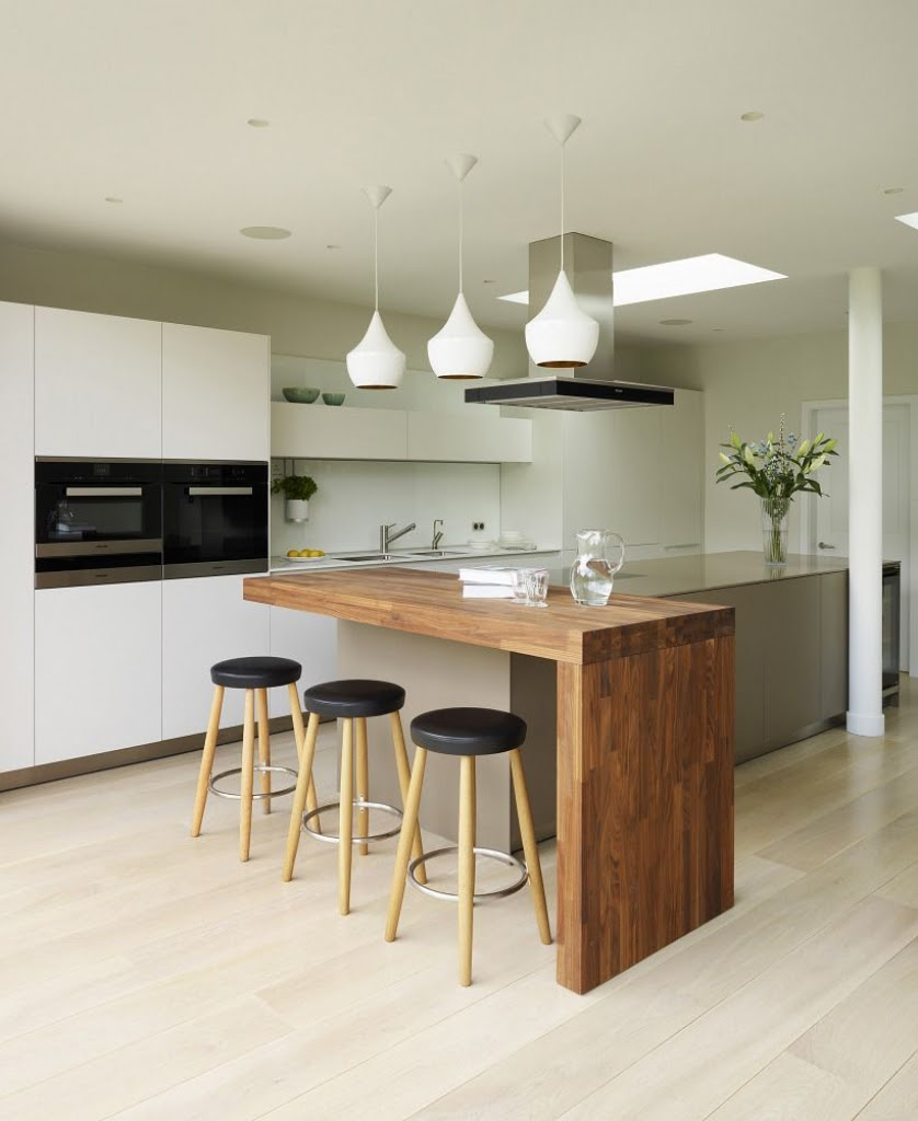 Kitchen Architecture Home Integrated Family Living Decor For Curved Kitchen Island With Seating For Your Home Interior Design Center Inspiration
