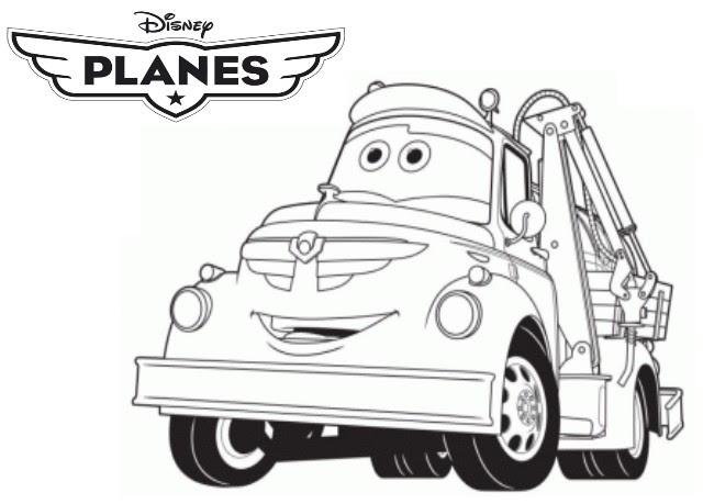 Coloriage A Imprimer Planes Camion Citerne Chug Gratuit Et Colorier