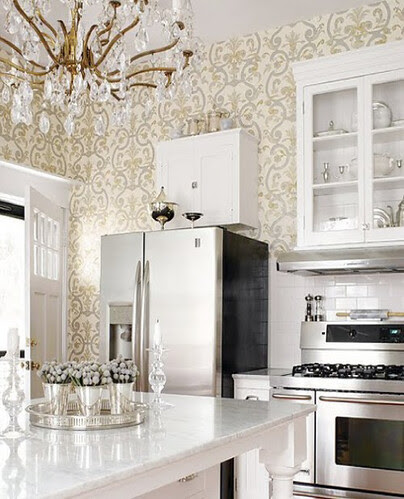 humblebumble2-4 wallpapered kitchen
