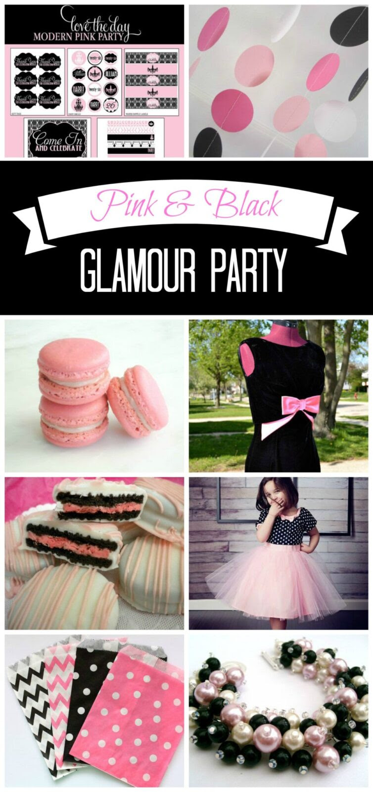 Inspiration 36 Pink And Black Glamour Party Ideas