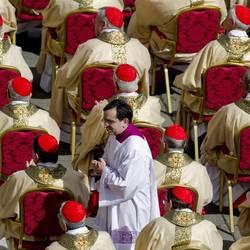 I cardinali alla essa d'ìnaugurazione del pontificato