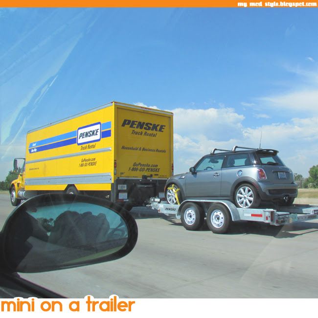 MINI on a trailer 650x650