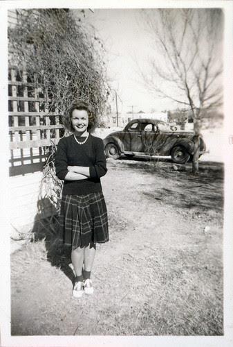 Gloria in saddle shoes