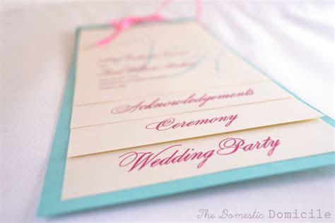 diy wedding revisited program templates  domestic