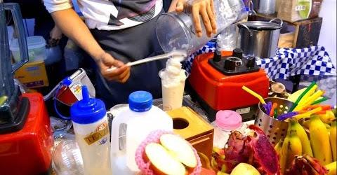 Sinh tố thơm kiểu Thái Lan - Streetfood Thailand - Pineapple Smoothie
