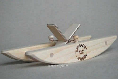 Wooden Paddle Boat | wood toys to make | Pinterest
