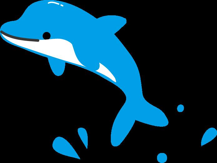 イルカのイラスト 無料イラスト