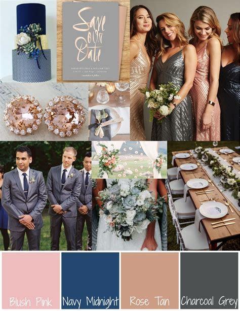 Blush Pink, Navy Blue, Rose Gold, & Charcoal Grey