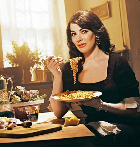 Nigella Lawson, who has come up with a recipe for pizza which uses meatballs as the base
