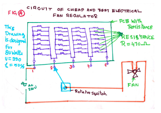 How To Build Home Made Electric Fan Regulator - Mini Project