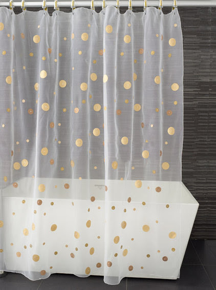 A handful of polka dots sprinkled across towels, pillows or ...
