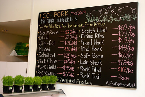 Eco-pork, organic and free-range, from New Zealand