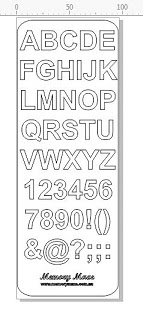 Arial 90 x 265 replacements for bulk alphabet 1 sheet.90 X 260