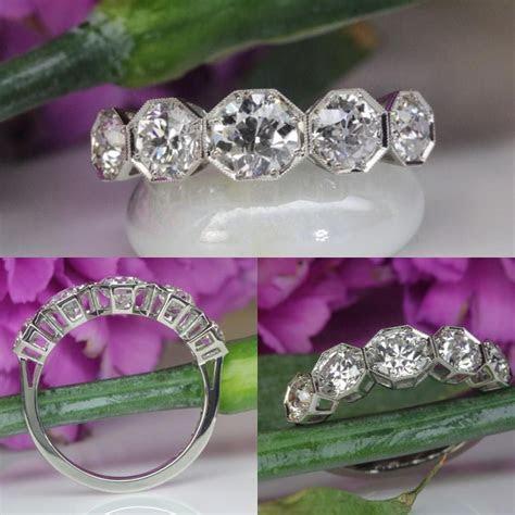 Five Stone Diamond Ring by David Klass Jewelry.   3, 5