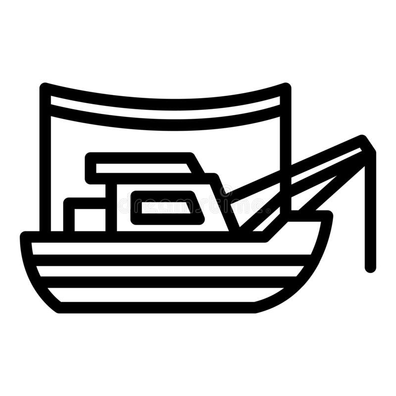 Download 253 Fishing Boat Outline Svg Svg Png Eps Dxf File