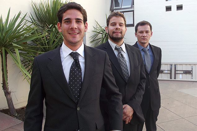 Da esq. para dir., Wellington de Souza, Thierry Marcondes e Welder Alves, sócios da Lux Sensor