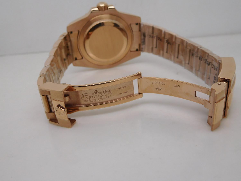 Replica Rolex GMT Master II Rose Gold Clasp