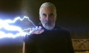 Lee as Count Dooku in Star Wars: Episode II - AttackK of the Clones, 2002