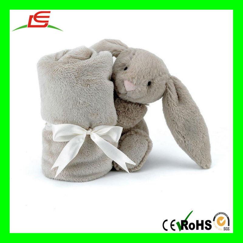 D847 Bunny Rabbit Blankie Plush Animal Baby Blanket - Buy Plush