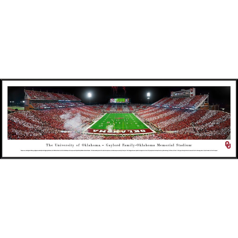 Oklahoma Sooners 40 X 135 Standard Frame Panoramic Photo