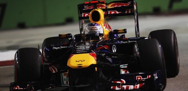 Vettel não deu chances aos rivais e largará na pole no GP de Cingapura