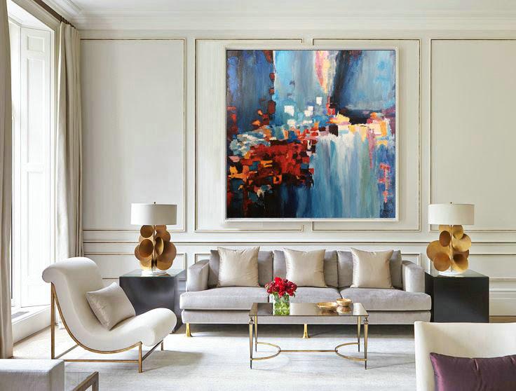 Acrylic Painting Canvas Abstract Original Artwork Wall