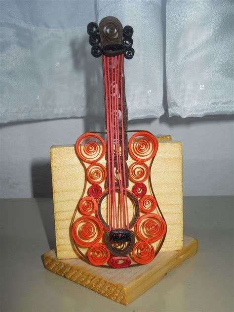 quilling guitar   My crafts   Quilling, Quilling cards