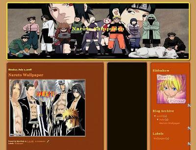 Naruto Shippuden Template Blogger