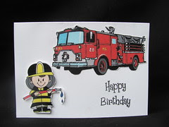 Connor's fireman card