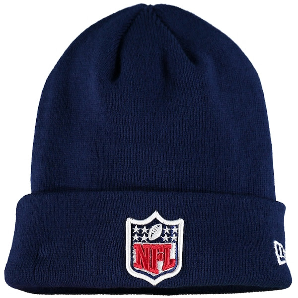Mens NFL Shield New Era Navy Solid Cuffed Knit Hat  NFLShop.com