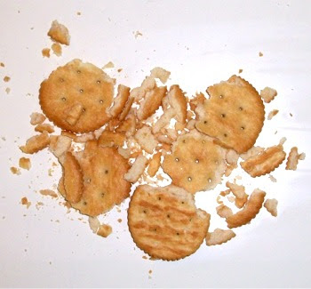 Ritz crackers out of their sleeve