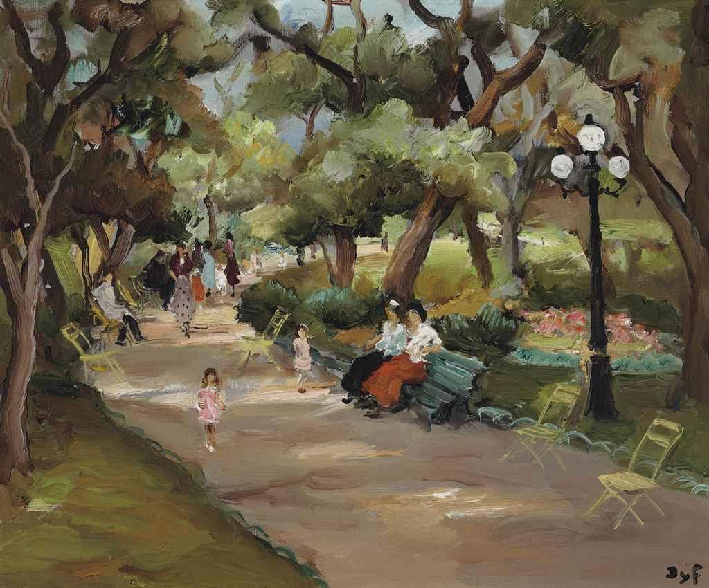 Promenade dans un jardin, Marcel Dyf.  French (1899 - 1985)
