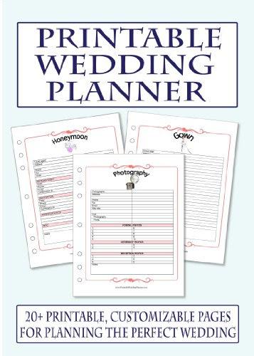 7 Best Images of Free Printable Wedding Planner Book - Printable Wedding Planner, Free Printable ...