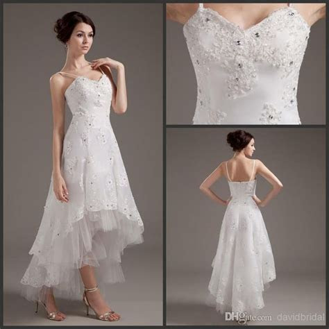 Wholesale High Quality Low Price Hi Lo Wedding Dresses